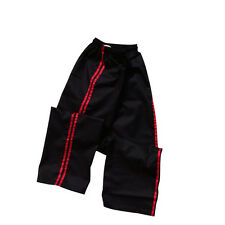 TurnerMAX Martial arts Karate kung fu kick boxing Training pant Black Red Stripe