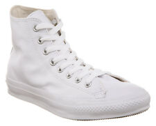 Converse All Star Leather Hi White Mono Trainers Shoes