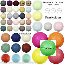 10 Swarovski Crystal 5810 Round Pearl 10mm Various Colours