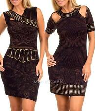 SeXY WoMeNS DReSS SuBLiMaTioN TaTToo STuDS PaiSLeY PRiNT MiNi CLuB SuN DReSS S-L