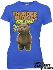 Ted The Movie Thunder Buddies For Life Licensed Woman Junior T Shirt S-XL