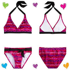 NWT Justice Girls Size 6 TRIBAL PRINT BIKINI 2 Piece VERY BERRY PINK Swimsuit