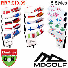MD GOLF VARIOUS COUNTRY FLAG PUTTER HEAD COVER - 15 STYLES