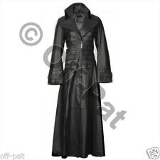 Beautiful & Sexy LAMBS LEATHER Ladies Steampunk GOTH Trench Coat