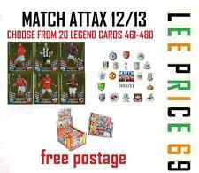 MATCH ATTAX 12/13 CHOOSE YOUR LEGEND CARDS LIST 461-480