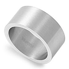 Stainless Steel Cigar Wedding Band Ring Avail in Sizes 7 8 9 10 11 12 13 14 15