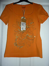 OXBOW Burnt Orange Azora ARTWORKS T-Shirt NWT