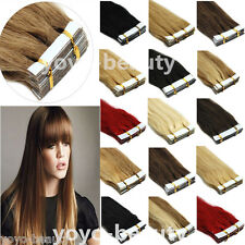 Tape In Remy Human Hair Extensions Skin Weft Women's Beauty 16''-26''20pcs-40pcs