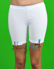 White Lycra Shiny Spandex Gymnastics,Workout Dance Short Leggings Shorts XXS-XL