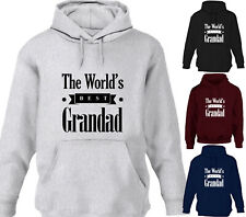 THE WORLDS BEST GRANDAD FUNNY DESIGNER MENS HOODY HOODIES GREAT FATHERS DAY GIFT
