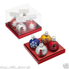 4 BAUBLE NAME CARD HOLDERS - CHRISTMAS PARTY TABLE DECORATIONS - PLACE NUMBER