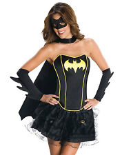 Sexy Gothic Black Batgirl Corset Adult Womens Halloween Costume Outfit XS-L