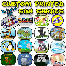Personalised Custom Children kid Car Sun Shades Window Screen full colour - x 1