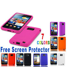 SILICONE GELCASE COVER FITS SAMSUNG GALAXY S2 i9100 FREE SCREEN PROTECTOR