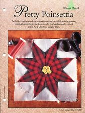 Pretty Poinsettia ~ Christmas Quilt Block quilt sewing pattern & templates