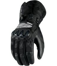 ICON MEN'S PATROL WATERPROOF BLACK MOTORCYCLE RIDING GLOVES ALL SIZES S-3XL