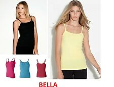 Bella - Ladies'  Casual Baby Rib Spaghetti Strap Tank Top - 1011 100% cotton
