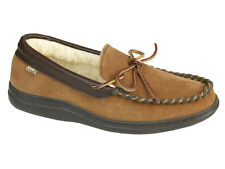 L.B. Evans Men's Atlin Boa Moccasin Slipper Saddle and Boa FREE SHIPPING