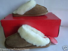 Sonoma Life Genuine Suede Slippers Scuffs  ~ Pick Your Size ~ MSRP $60 ~ NWB