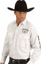 JACK DANIELS OLD NO.7 COWBOY WESTERN SHIRT UK SELLER LONG SLEEVEM,L,XL,XXL WHITE