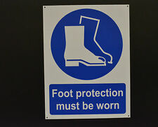 Foot Protection Must Be Worn Sign Or Sticker Choice Of Sizes Safety Boots Shoes