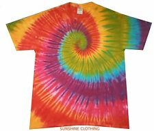 Tye Die T Shirt  Childrens 3-4 to 9-11  Rainbow Spiral, hand dyed in the UK
