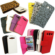 PU Leather Vertical Wallet Flip Case Cover For Samsung Galaxy S3 i9300 Lot