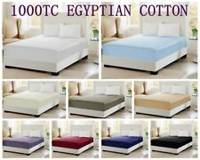 1000TC 100% Egyptian Cotton Collection 40cm Deep Wall Fitted Sheet - 9 Colours