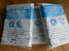 2 (Two) WATERPROOF MATTRESS PROTECTOR COVERS // FITTED CONSTRUCTION// 100% Vinyl