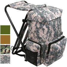 Backpack & Stool Combo Camping Outdoor Pack