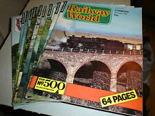 VINTAGE IAN ALLAN RAILWAY WORLD MAGAZINES 1981 CHOOSE YOUR ISSUE/S