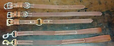 Harness leather leash and collar set, emboss, stamp your name for free