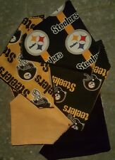 PITTSBURGH STEELERS HOMEMADE 2 SIDED DOG SCARF (SEE SIZES)