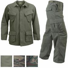 Vintage Military Rip-Stop Vietnam Tactical BDU Fatigue Uniform