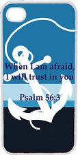 Large White Faith Anchor Psalm 56:3 Verse in Middle iPhone 4 4S Case Cover