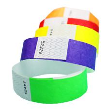 """100ct, 500ct or 1000ct-3/4"""" Paper Wristbands-Choose Your Color-Clubs,ID Bands"""