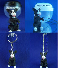 BOSTON TERRIER #33 HOOD HOUNDS DOG FIGURE DANGLER KEYCHAIN LIGHT FAN LAMP PULL