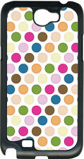 Multicolor Polka Dots on Samsung Galaxy Note II 2 Hard Case Cover