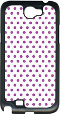 Small White and Purple Polka Dots on Samsung Galaxy Note II 2 Hard Case Cover