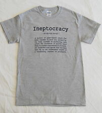 INEPTOCRACY TSHIRT Political GOVERNMENT TEE Election 2012 FUNNY USA Convention