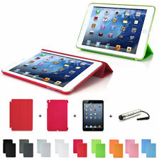 Magnetic Smart Cover & Base Case for iPad Mini 1 & 2 Retina + Shield + Stylus