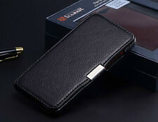 Luxury Genuine Leather Folio Case Cover For HTC Droid DNA J Butterfly X920E
