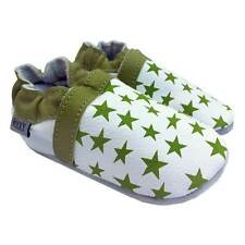 OXXY Baby Shoes Green Leather Little Stars Girls Comfortable Toddler Prewalker