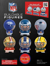 2 BRAND NEW 2012 NFL VENDING BUILDABLE MINI FIGURES OPEN-BUILD-PLAY CAKE TOPPER