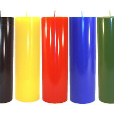 Large Pillar Candles 3 x 9.5 USA Quality Solid Colors Unscented Hand Poured