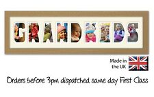 Grandkids Personalised Photo Frame by Photos in a word, Gift for Nanny & Grandad