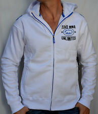ECKO Unltd. MMA - ALL STAR HOODIE - Men's Zip Up Hooded Sweatshirt - NEW - White