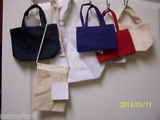 "ASSORTED SIZES AND COLORS OF CANVAS PURSES TOTES PERSONALIZED FOR THE ""PRINCESS"""