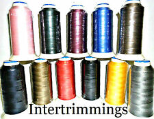 STRONG BONDED NYLON THREAD 60'S, 1000MTR,UPHOLSTERY ASSORTED COLOURS, FREE P&P