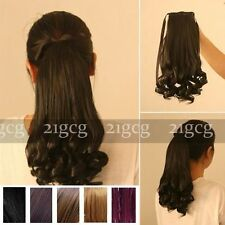 """19"""" Sex Women Horsetail Hair Extensions Curly Make Up Ponytail Hairpiece CD2016"""